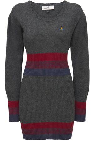 VIVIENNE WESTWOOD Logo Wool Knit Mini Dress