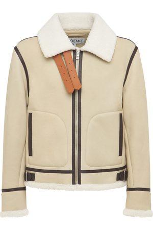 Loewe Men Leather Jackets - Shearling Aviator Jacket
