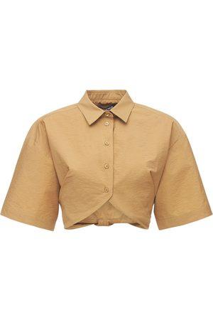 Jacquemus La Chemise Ballu Poplin Cropped Shirt