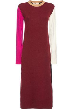 Marni Wool & Cashmere Crewneck Back Log Dress