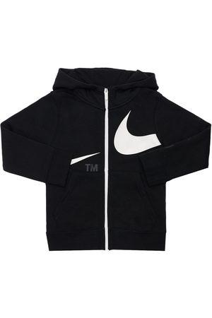 Nike Logo Print Cotton Hoodie