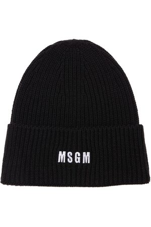 MSGM Logo Embroidery Knit Beanie