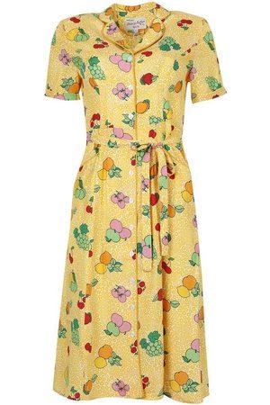 Harley Viera-Newton Women Printed Dresses - Maria Fruit Print Button-down Pajama Dress