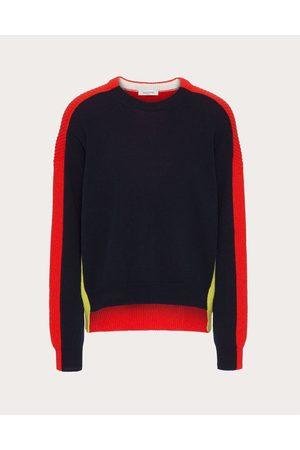 VALENTINO Wool Crewneck Sweater Man Navy/ 100% Virgin Wool L