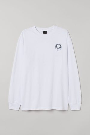 H&M Men Shirts - Oversized Jersey Shirt