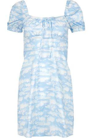 Harley Viera-Newton Women Party Dresses - Mini Holland Bow Tie Cloud Print Dress