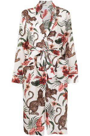 Desmond & Dempsey Soleia botanical-print robe