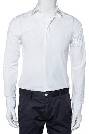Givenchy Men Long sleeves - Cotton Long Sleeve Button Front Classic Slim Fit Shirt S