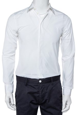 Givenchy Cotton Long Sleeve Button Front Classic Slim Fit Shirt S
