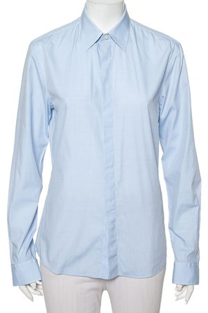 Givenchy Light Cotton Long Sleeve Button Front Classic Slim Fit Shirt S