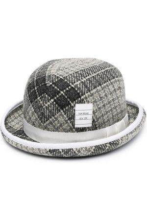 Thom Browne Men Hats - Checked bucket hat - Grey