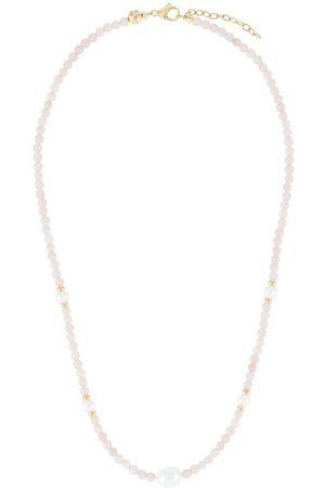 Nialaya Baroque pearl bead choker
