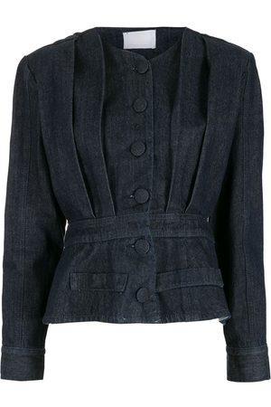 Andrea Bogosian Women Denim Jackets - Pleated denim jacket