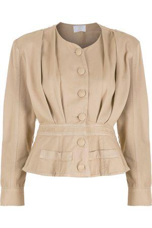 Andrea Bogosian Viet pleated jacket - Neutrals