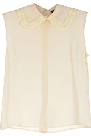 Andrea Bogosian Women Blouses - Vitalie silk blouse - Neutrals