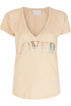Andrea Bogosian Women T-shirts - Sequin love T-shirt - Neutrals