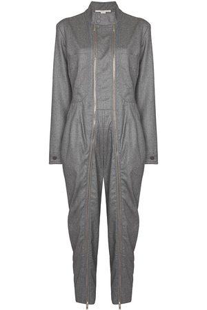 Stella McCartney Women Jumpsuits - Zip-detail wool jumpsuit - Grey