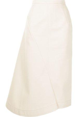 Nº21 Asymmetric panelled midi skirt