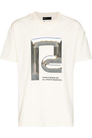 Purple Brand Men T-shirts - Chrome Icon-print cotton T-shirt
