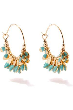 Isabel Marant Resin-dipped Charm Hoop Earrings - Womens