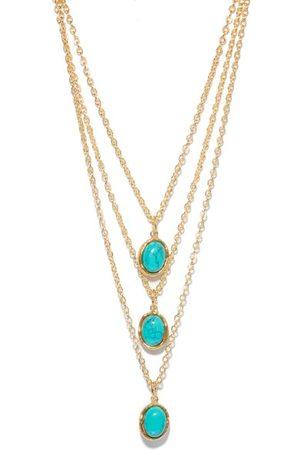 Sylvia Toledano Oval Turquoise Pendant Necklace - Womens