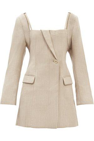 Jacquemus La Robe Maniu Tailored Wool-twill Mini Dress - Womens