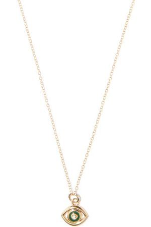 Alison Lou Evil Eye Diamond & 14kt Necklace - Womens
