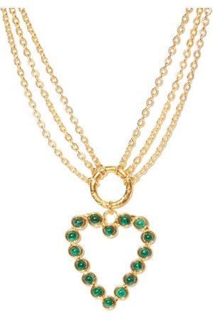 Sylvia Toledano Heart Pendant Malachite Necklace - Womens