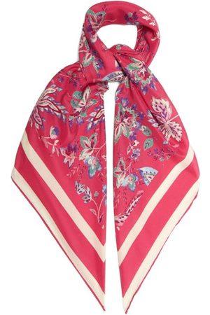 Isabel Marant Scarfili Floral-print Silk-twill Scarf - Womens - Multi