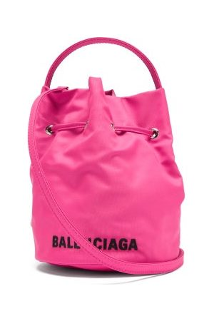 Balenciaga Women Purses - Wheel Xs Canvas Bucket Bag - Womens