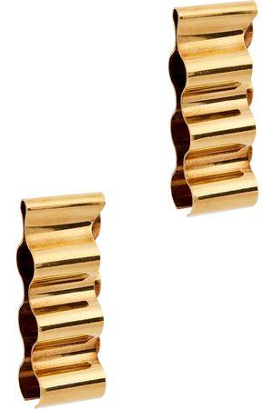 Jil Sander Wave -tone clip-on earrings