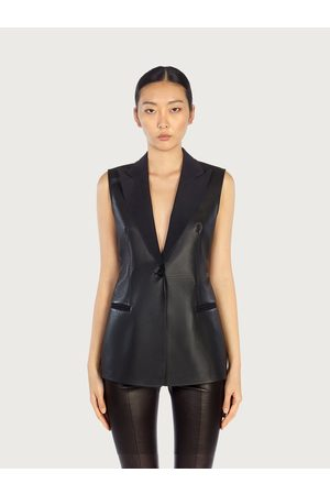 Salvatore Ferragamo Women Sleeveless nappa waistcoat