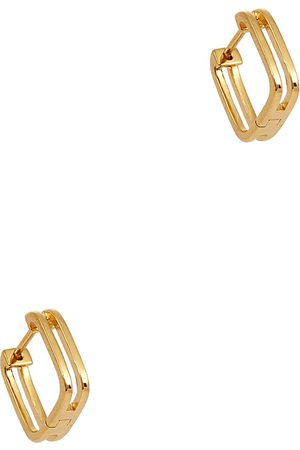 Daisy London Rupi 18kt -plated hoop earrings