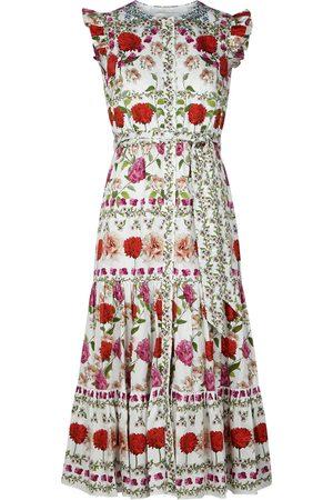 Borgo de Nor Daisy floral-print cotton midi dress
