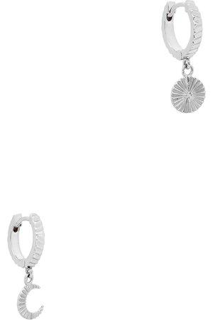 Daisy London X Estée Lalonde Luna sterling hoop earrings