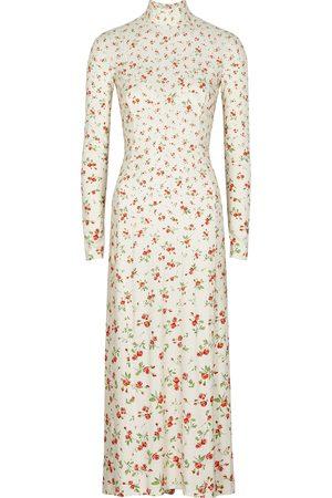 Paco rabanne Floral-print stretch-jersey midi dress
