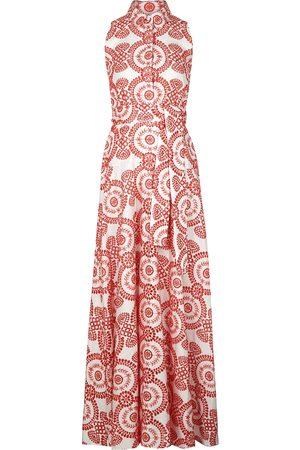 Borgo de Nor Paloma eyelet-embroidered maxi dress