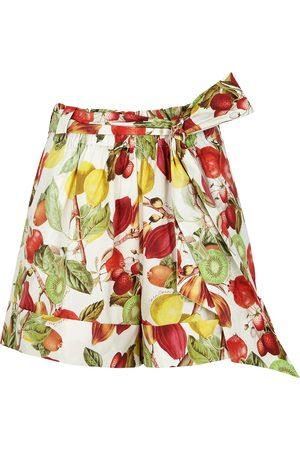 CARA CARA Whitney printed cotton-poplin shorts