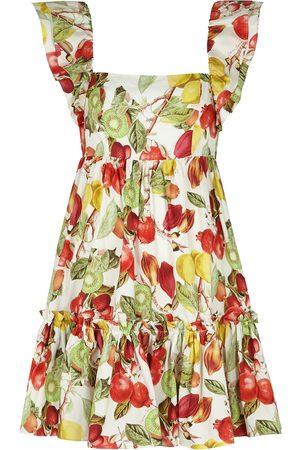 CARA CARA Women Party Dresses - Lexa printed cotton-poplin mini dress