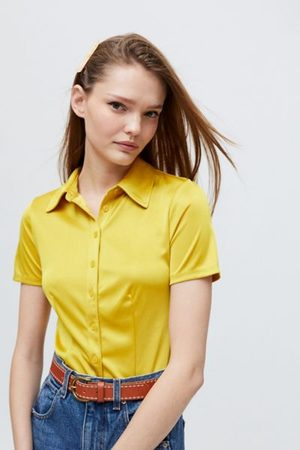 Urban Outfitters Women Short sleeves - UO Fran Short Sleeve Button-Down Shirt