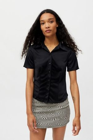 Urban Outfitters UO Fran Short Sleeve Button-Down Shirt