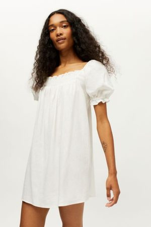Urban Renewal Eco Linen Smocked Babydoll Dress