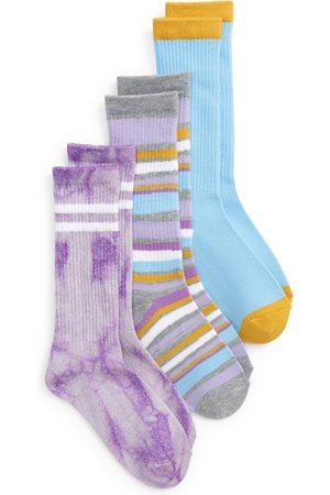 Treasure & Bond Girls Socks - Toddler Girl's Kids' Assorted 3-Pack Crew Socks