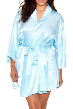 MansiCollections Plus Size Women's Satin Robe