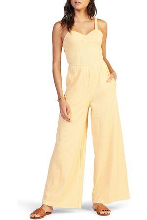 Roxy Women's Skyline Views Tie Back Organic Cotton Blend Rib Jumpsuit