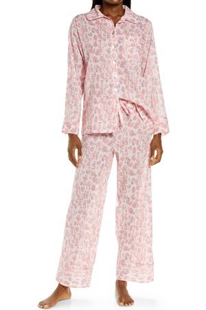 Papinelle Women's Cheetah Print Cotton Voile Pajamas