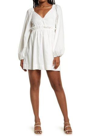 Lulus Women Long sleeves - Women's So Excited Long Sleeve Minidress