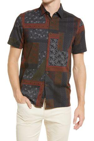 Ted Baker London Men's Relaxx Short Sleeve Hemp & Cotton Button-Up Shirt
