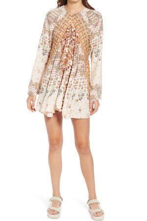 Free People Women's Stevie Printed Long Sleeve Tunic Dress