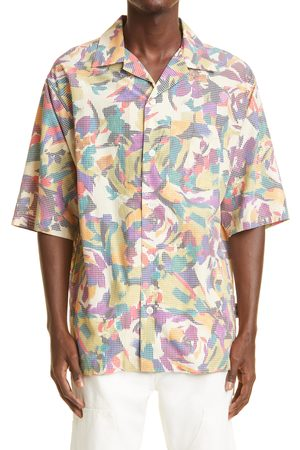 KENZO Men's Archive Floral Short Sleeve Button-Up Camp Shirt